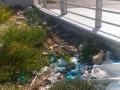 rifiuti inzio percorso ciclabile via Capitini ottobre 2017