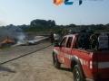 Incendio barche cala Pantano