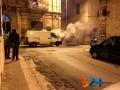 Incendio furgone via de gasperi6