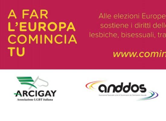 """""""A far l'Europa comincia tu"""", campagna promossa da Arcigay"""
