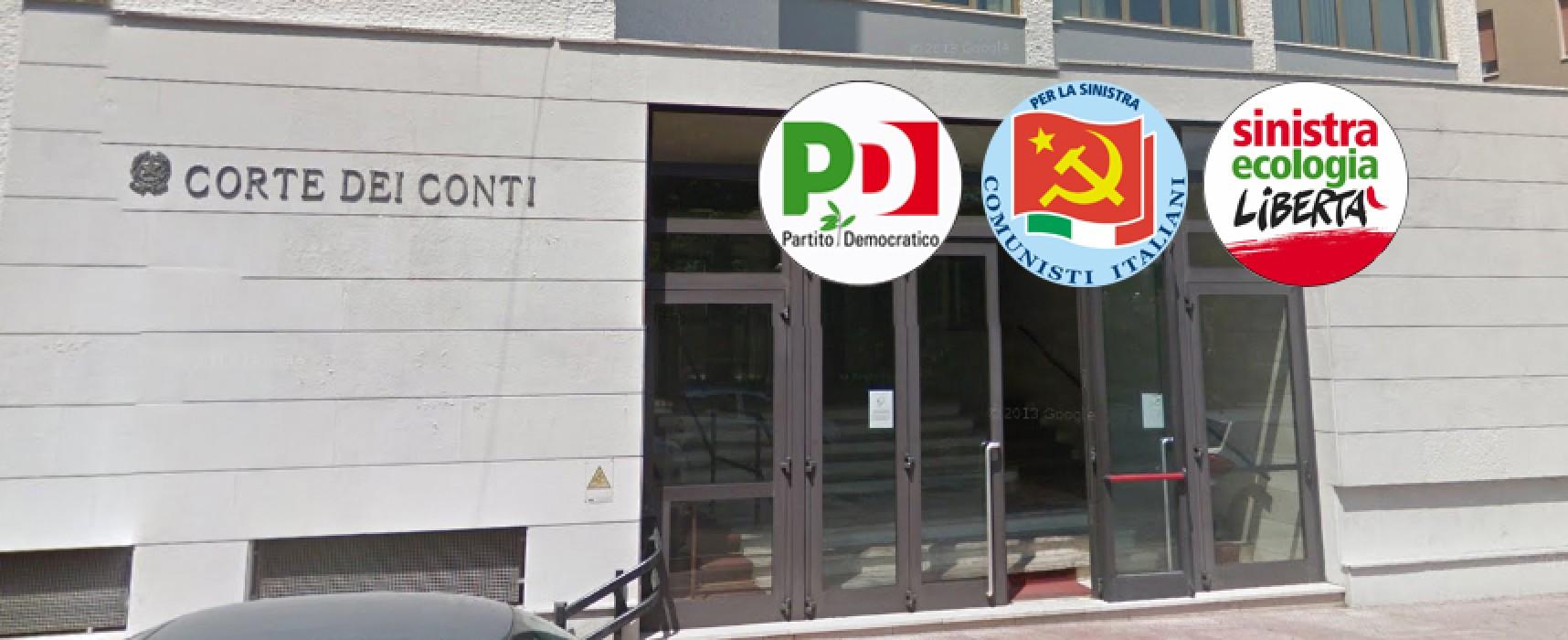 """Pronuncia Corte dei Conti, Sel: """"Sonora bocciatura"""", Pdci: """"Lo dicevamo dal 2011"""", Pd: """"Consiglio comunale monotematico"""""""