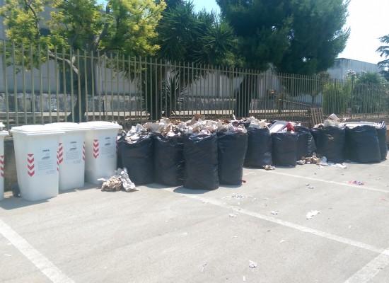 Zona artigianale ovest, rifiuti infiammabili abbandonati vicino ai cassonetti