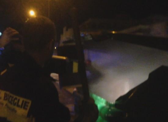 Incendio in un cassonetto di via Luigi Di Molfetta ieri sera alle 21 / VIDEO