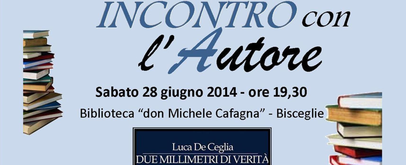 Stasera Luca De Ceglia presenta il suo libro, in dialogo con Gianluca Veneziani