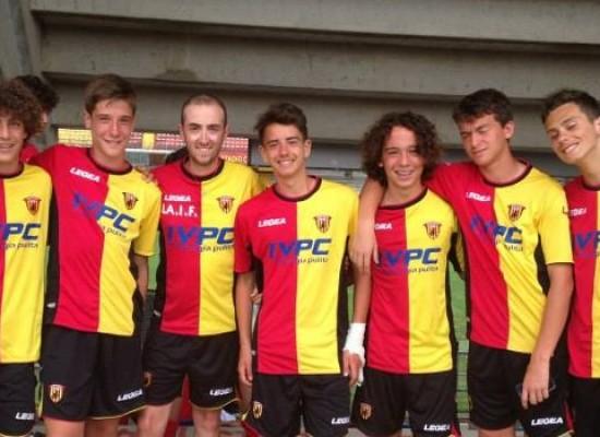 I giovani dell'Unione Calcio a scuola dal Benevento