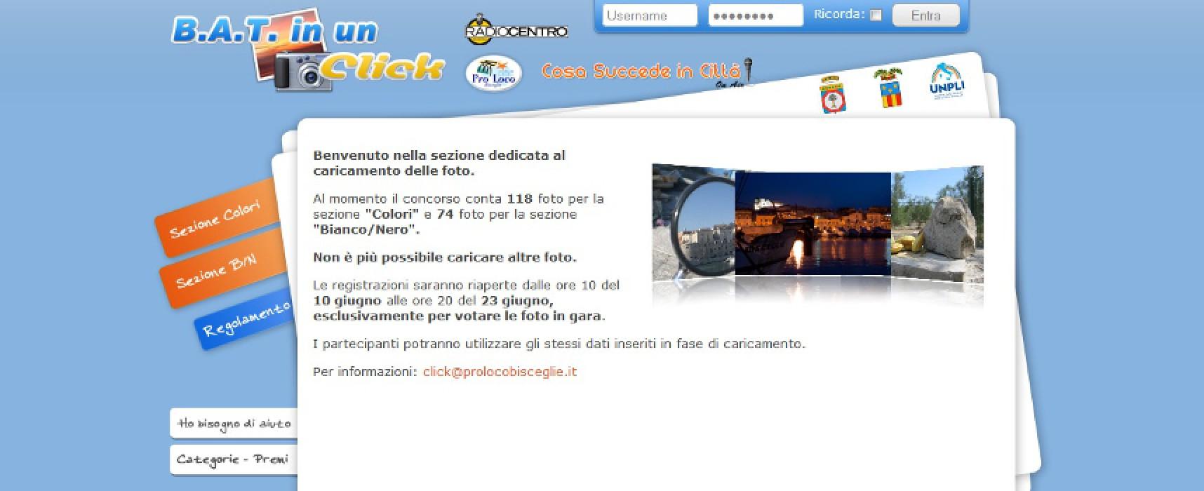 """""""BAT in un click"""", da domani le votazioni online del Concorso fotografico della Pro Loco"""