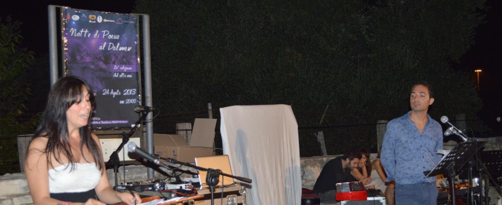 """""""Notte di poesia al Dolmen – La notte è l'ora giusta"""": via alla V edizione"""