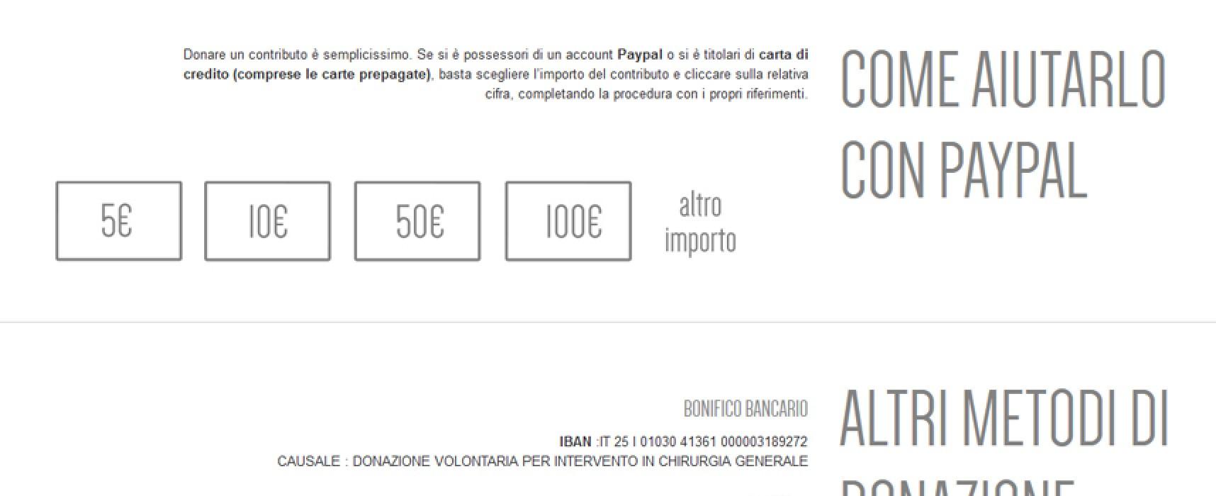 È nato il sito www.aiutiamoantonio.it, partita alla grande la macchina della solidarietà