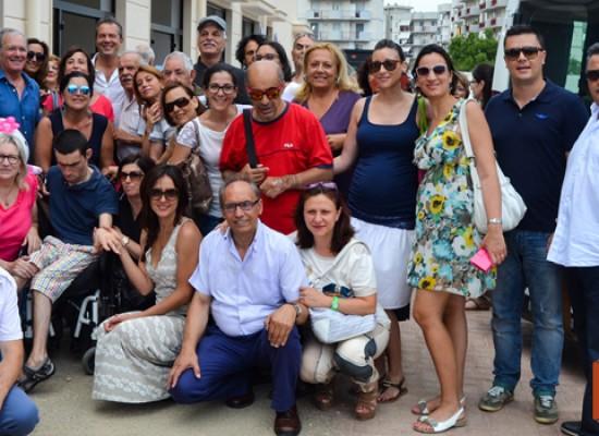 Ambra e Michele Placido in visita a Casa Pegaso / FOTO e VIDEO