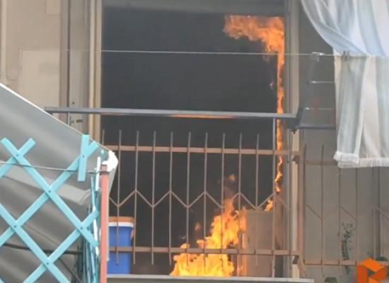 Stamane incendio in un appartamento di via della Riforma / VIDEO