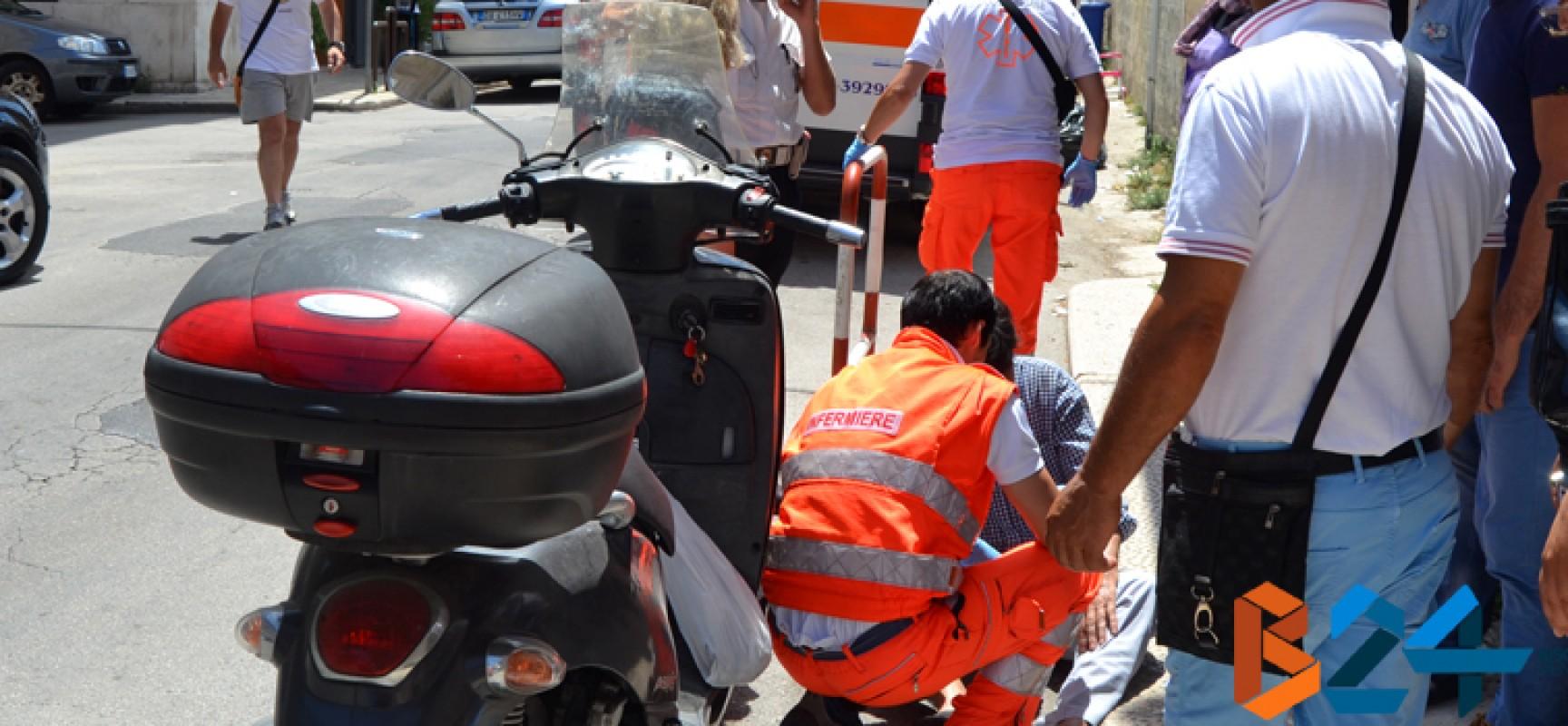 Incidente in Via San Lorenzo, coinvolti uno scooter ed un'autovettura