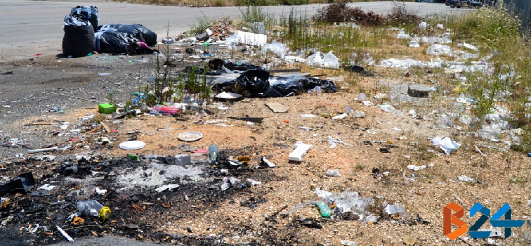 Zona artigianale ovest sommersa dai rifiuti: cassonetti largamente insufficienti / FOTO