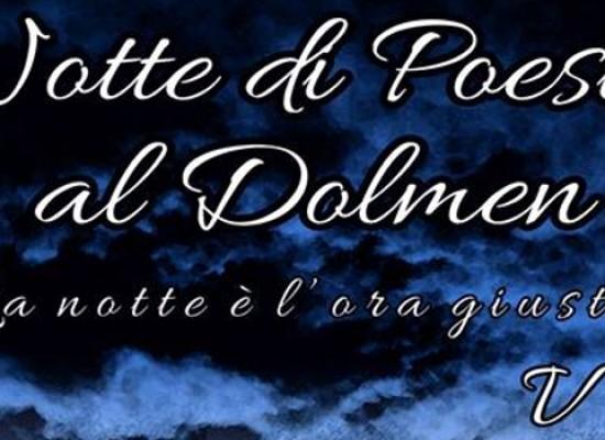 Notte di Poesia al Dolmen: domani sera la V edizione del reading di poesie