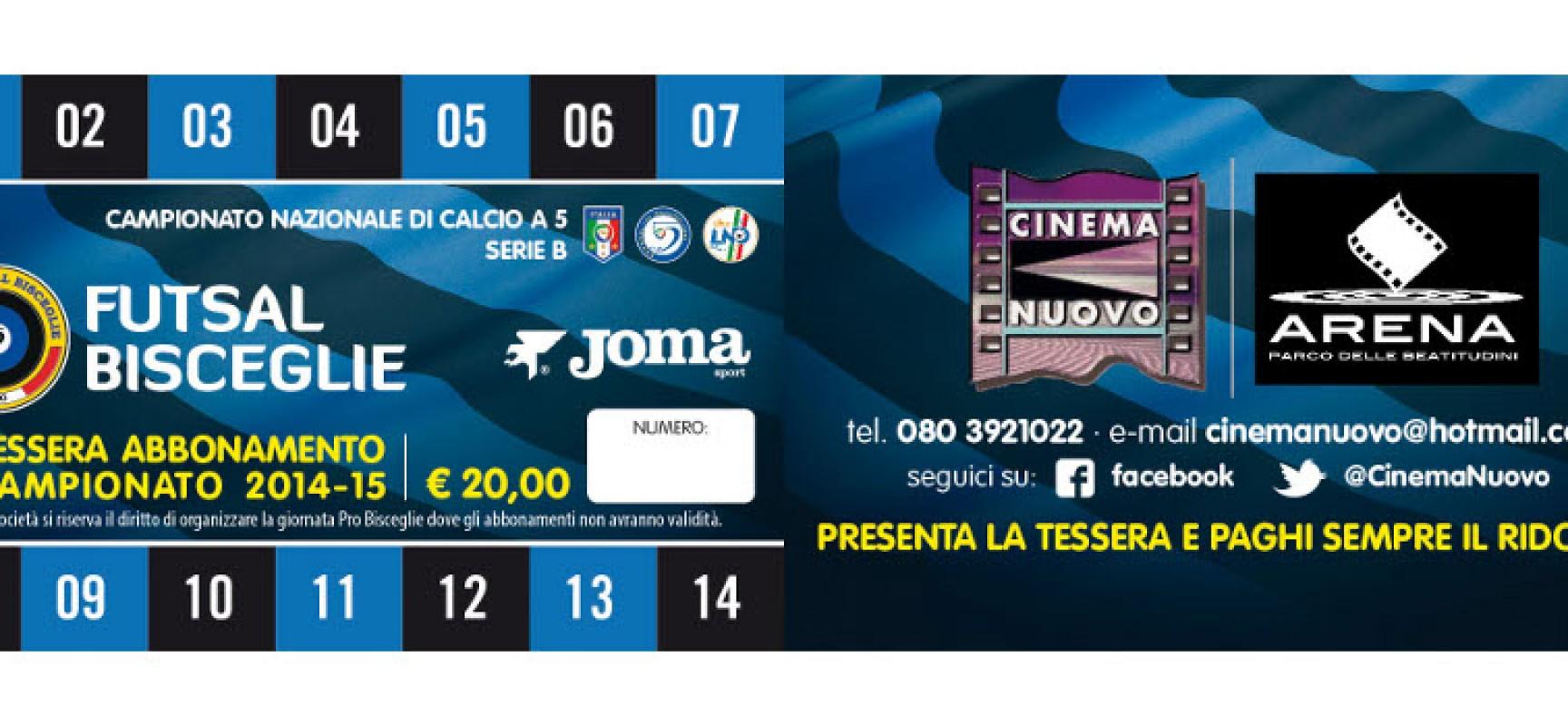 Futsal Bisceglie, parte la campagna abbonamenti 2014/15