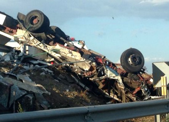 Morti due autotrasportatori biscegliesi in un grave incidente stradale vicino Taranto
