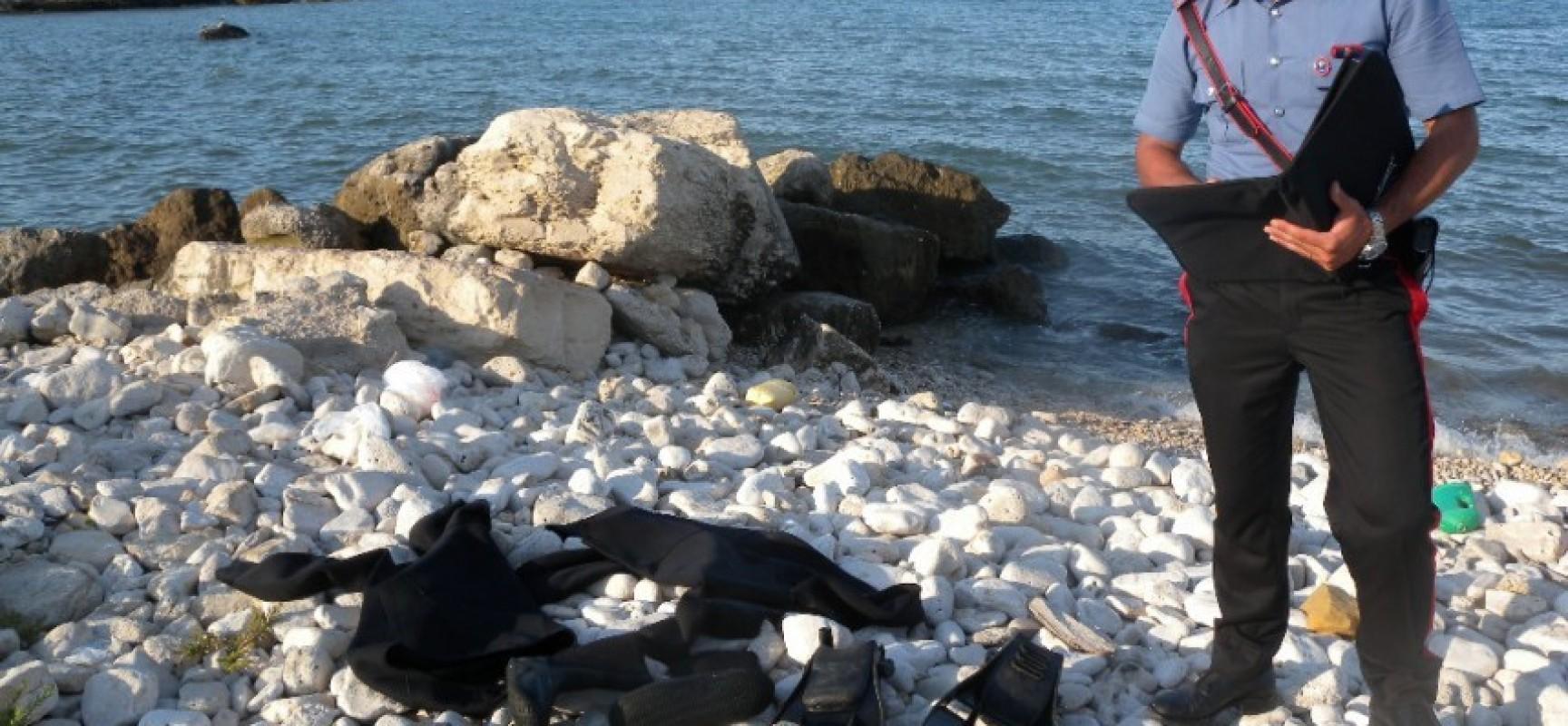 """Ritrovato cadavere di un 53enne biscegliese: era in immersione notturna presso """"La Salata"""""""