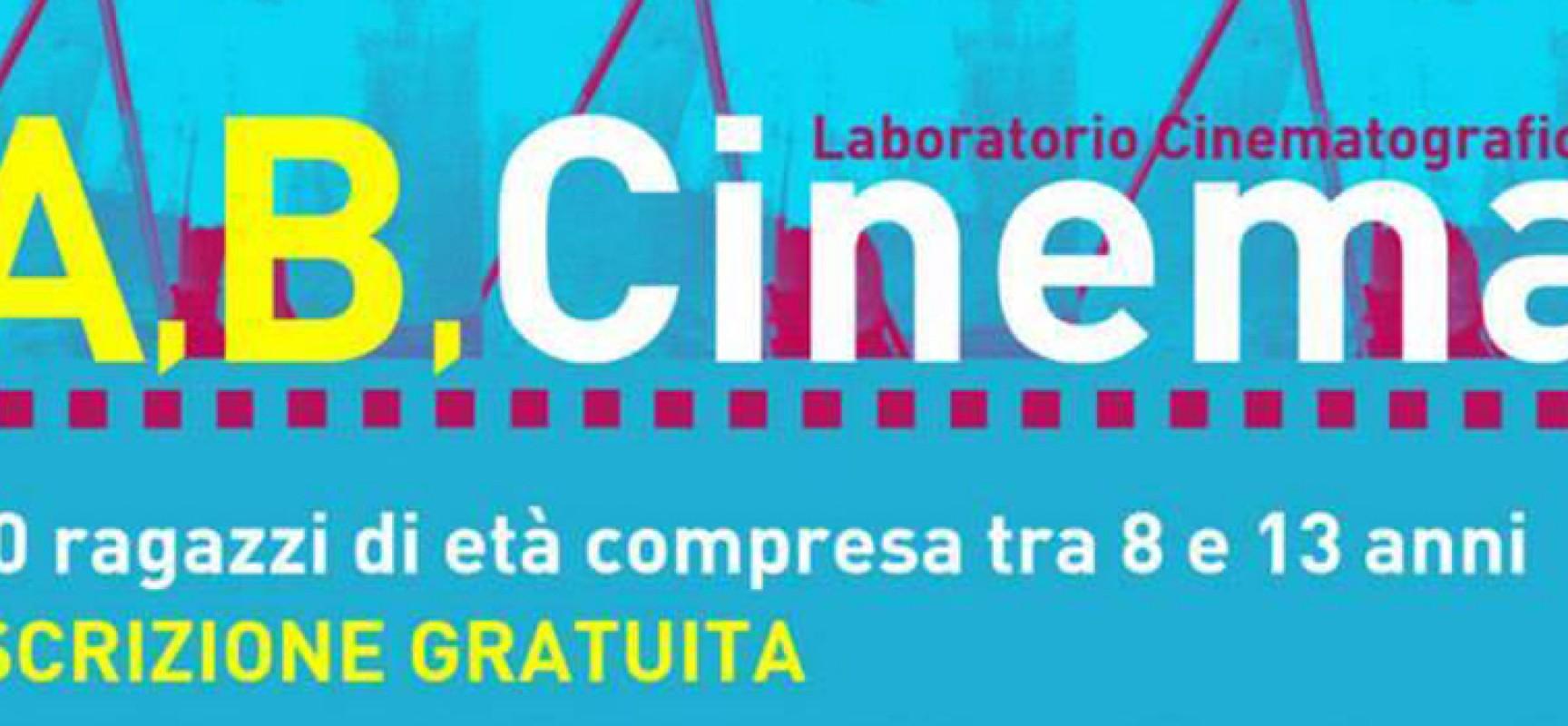 """Dal 18 al 21 agosto il laboratorio cinematografico gratuito """"A,B,Cinema"""" per ragazzi dagli 8 ai 13 anni"""