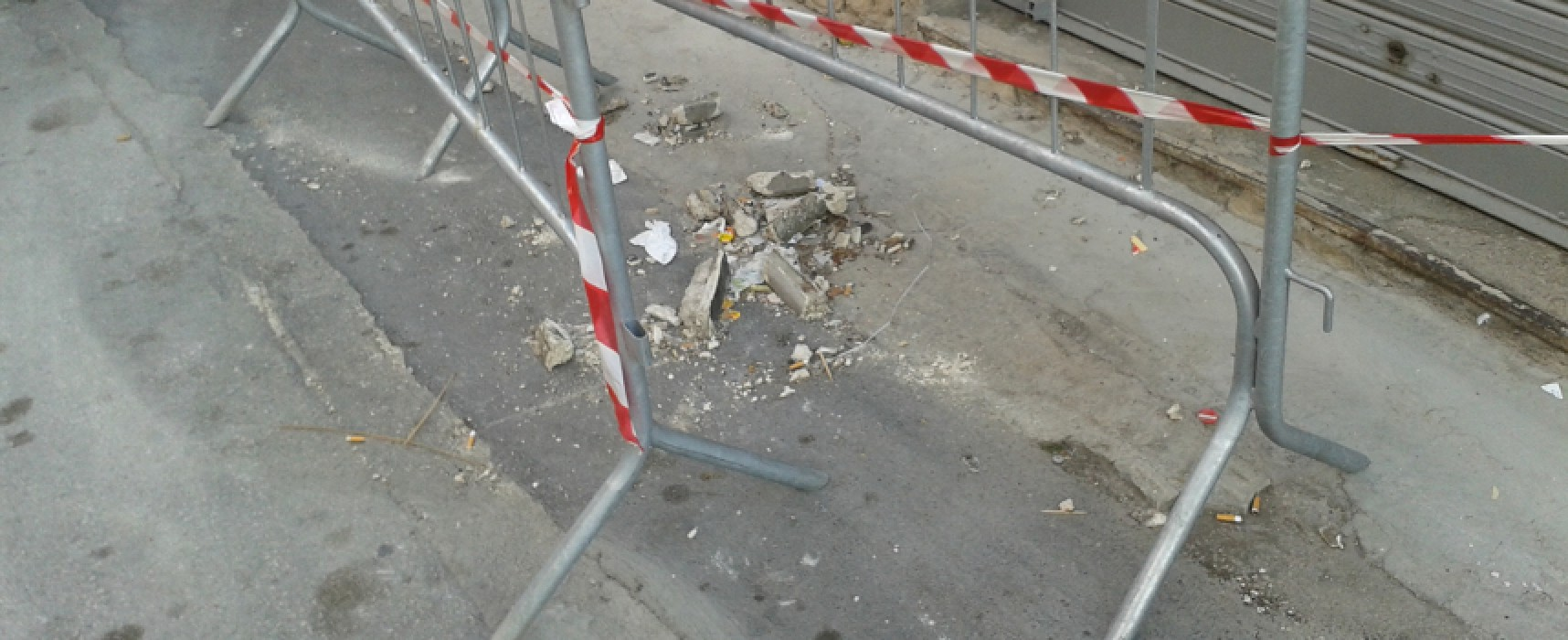 Calcinacci e vetri rotti, ordinanza dispone lavori urgenti in via Guarini e via Abate Bruni