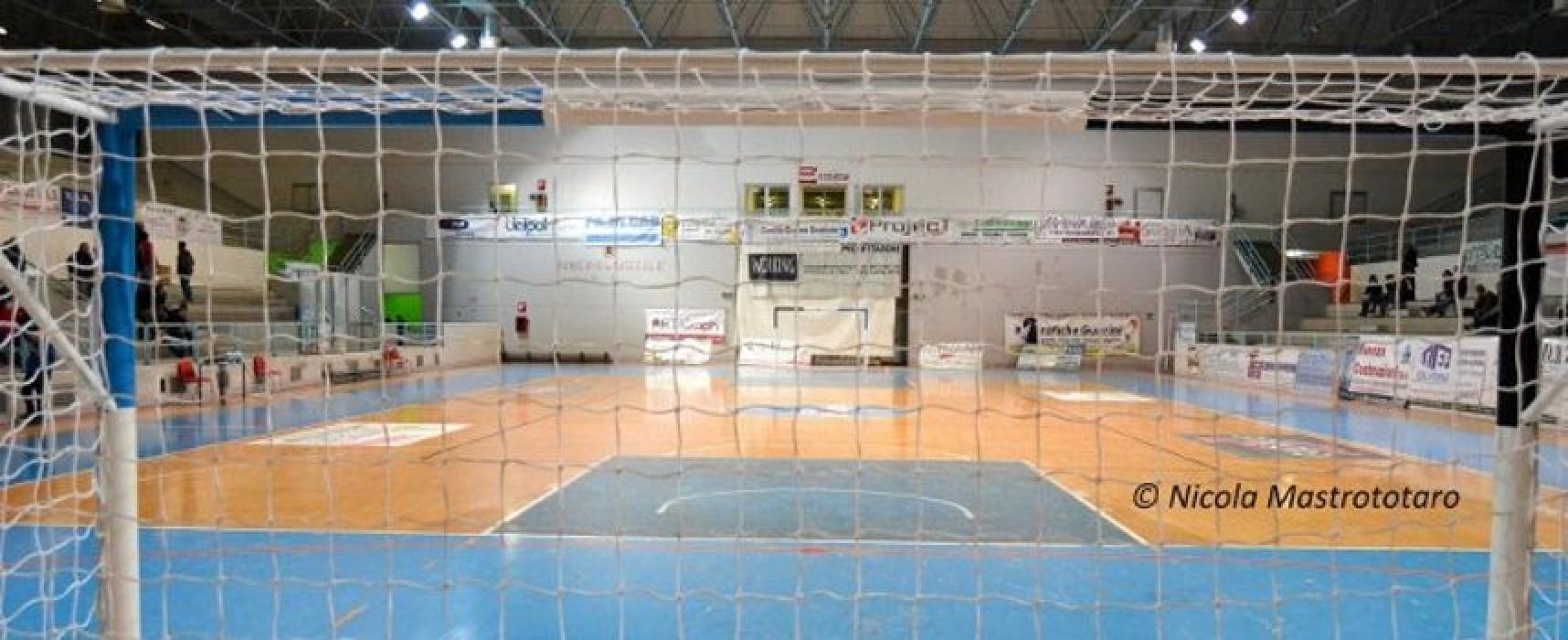 Calcio a 5, coppa Italia di C: al primo turno Diaz-Nettuno e Santos-Futsal Andria