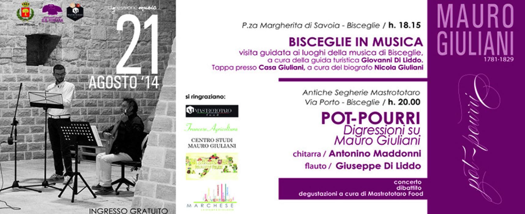 Mauro Giuliani Pot-Pourri, il 21 agosto giornata dedicata al musicista biscegliese