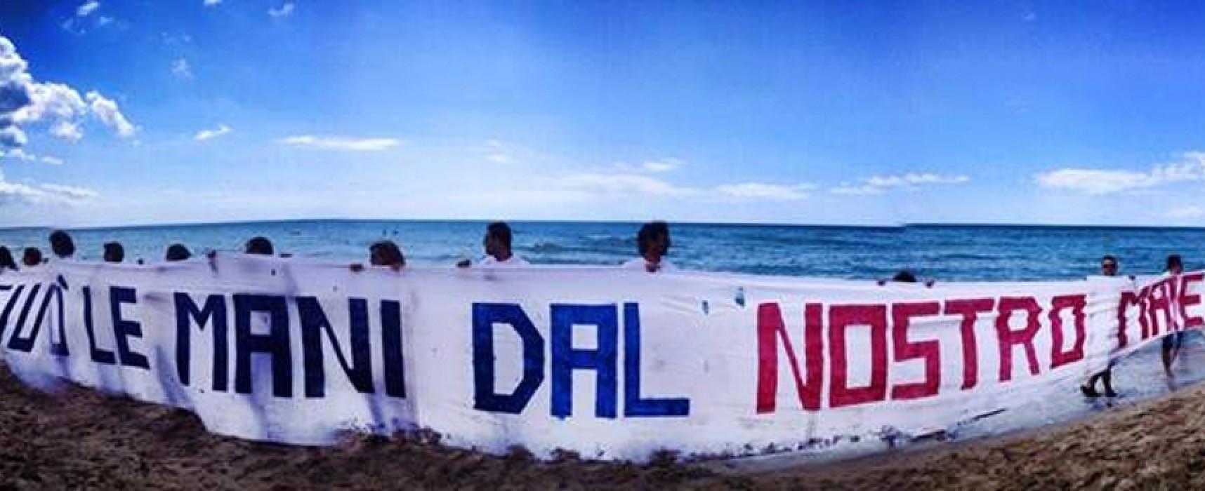 """""""Giù le mani dal nostro mare"""", questa mattina l'iniziativa di M5S e Bisceglie 5 Stelle"""