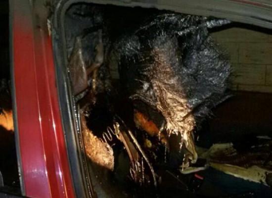 Auto incendiata nella notte tra sabato e domenica, pronto l'intervento dell'OER / FOTO