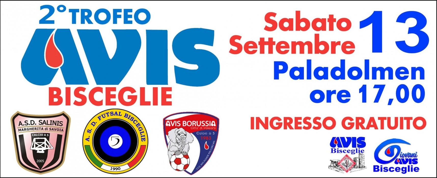 """Futsal Bisceglie: oggi pomeriggio al PalaDolmen c'è il """"2° Trofeo Avis Bisceglie"""""""
