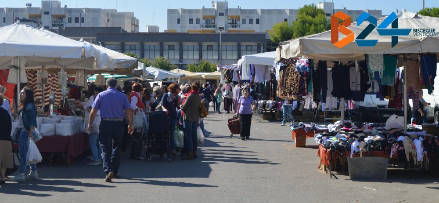 Mercato straordinario in Viale Calace domenica 28 dicembre