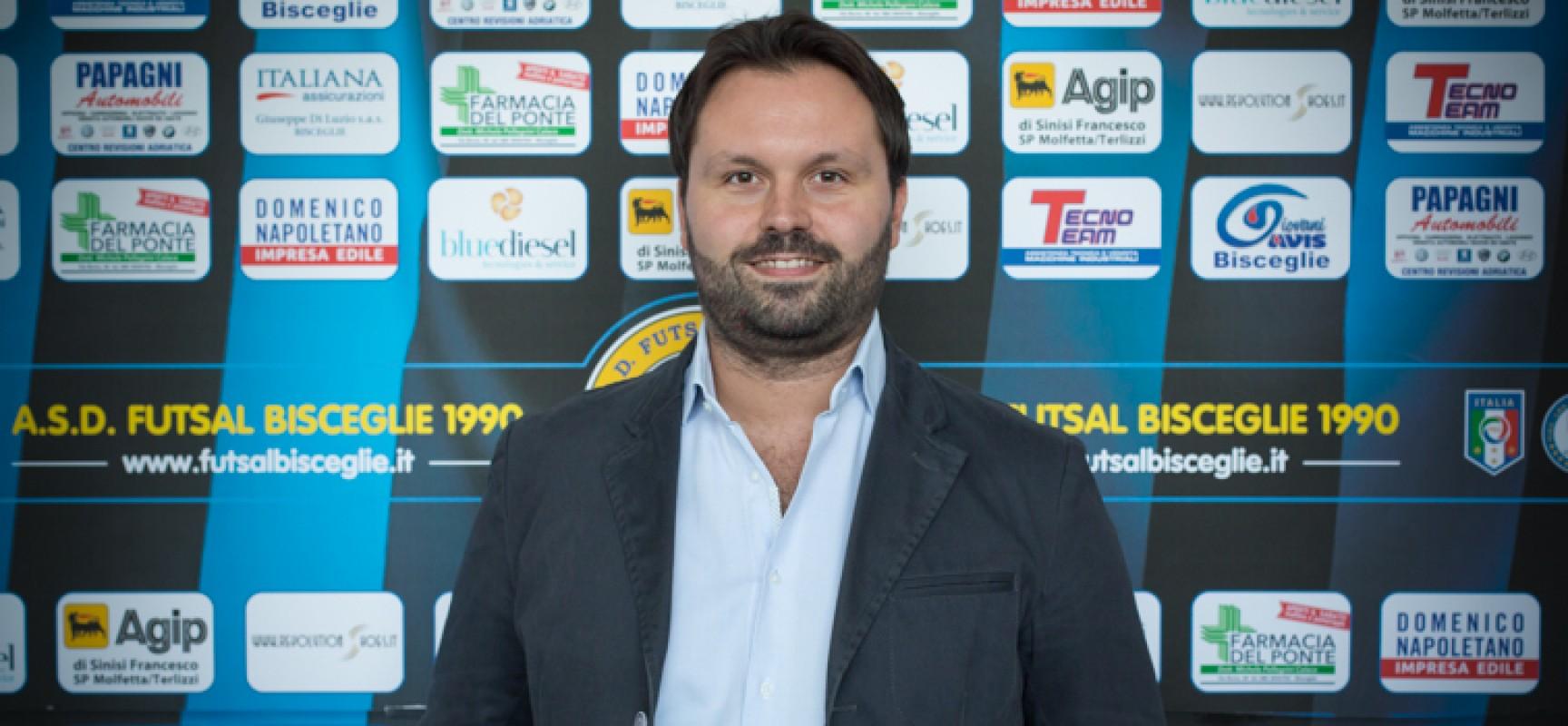 """Futsal Bisceglie, Anellino: """"Risultati positivi generano entusiasmo in campo e fuori"""""""