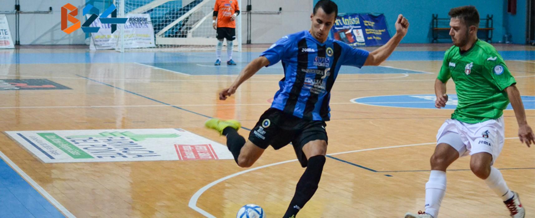 Il Futsal Bisceglie continua a volare, sofferta vittoria a Modugno per 5-3