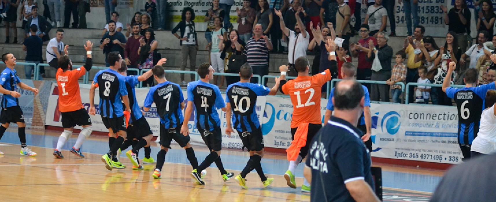 Il Futsal Bisceglie batte in rimonta il quotato Futsal Barletta e vola in testa alla classifica