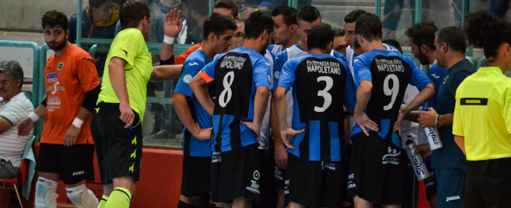 Futsal Bisceglie: domani è già campionato, al PalaDolmen arriva il Venafro