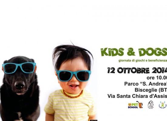 """""""Kids & Dogs"""", gioco ed educazione cinofila per bambini e genitori presso il parco di Sant'Andrea"""