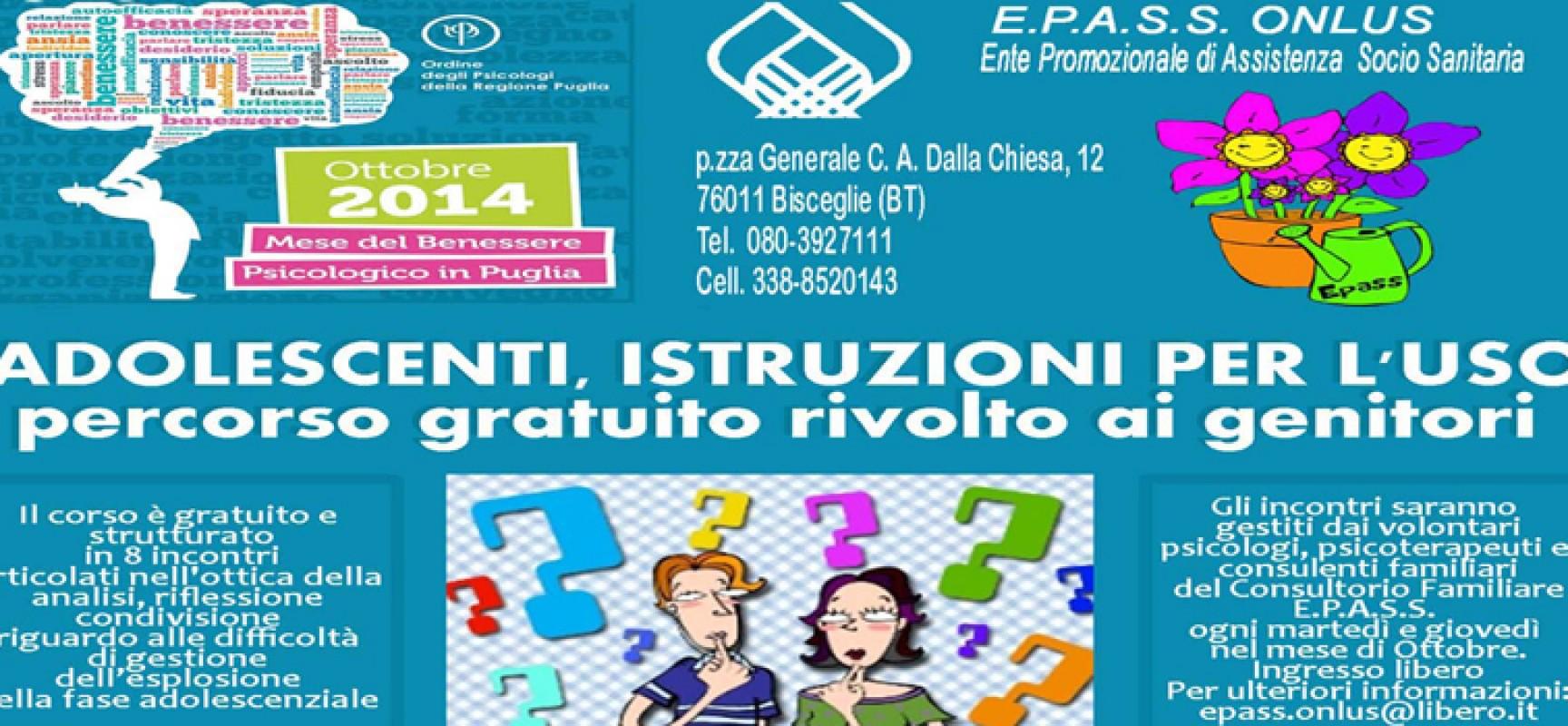 """""""Adolescenti, istruzioni per l'uso"""": prosegue con successo l'iniziativa lanciata dal consultorio Epass"""