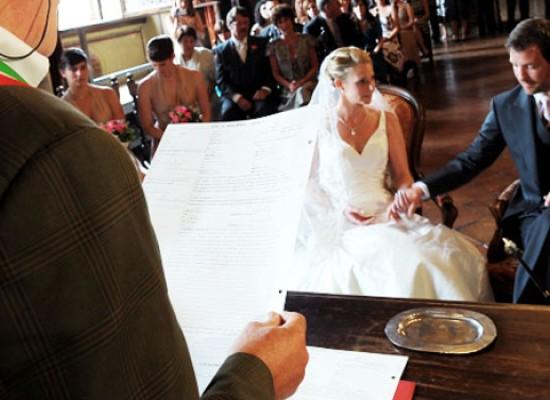 La Giunta comunale approva il tariffario per i matrimoni civili: da 0 a 650 euro