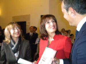 La Dott.ssa Antonia Troja D'Urso con il Presidente Spina e il Prefetto Minerva