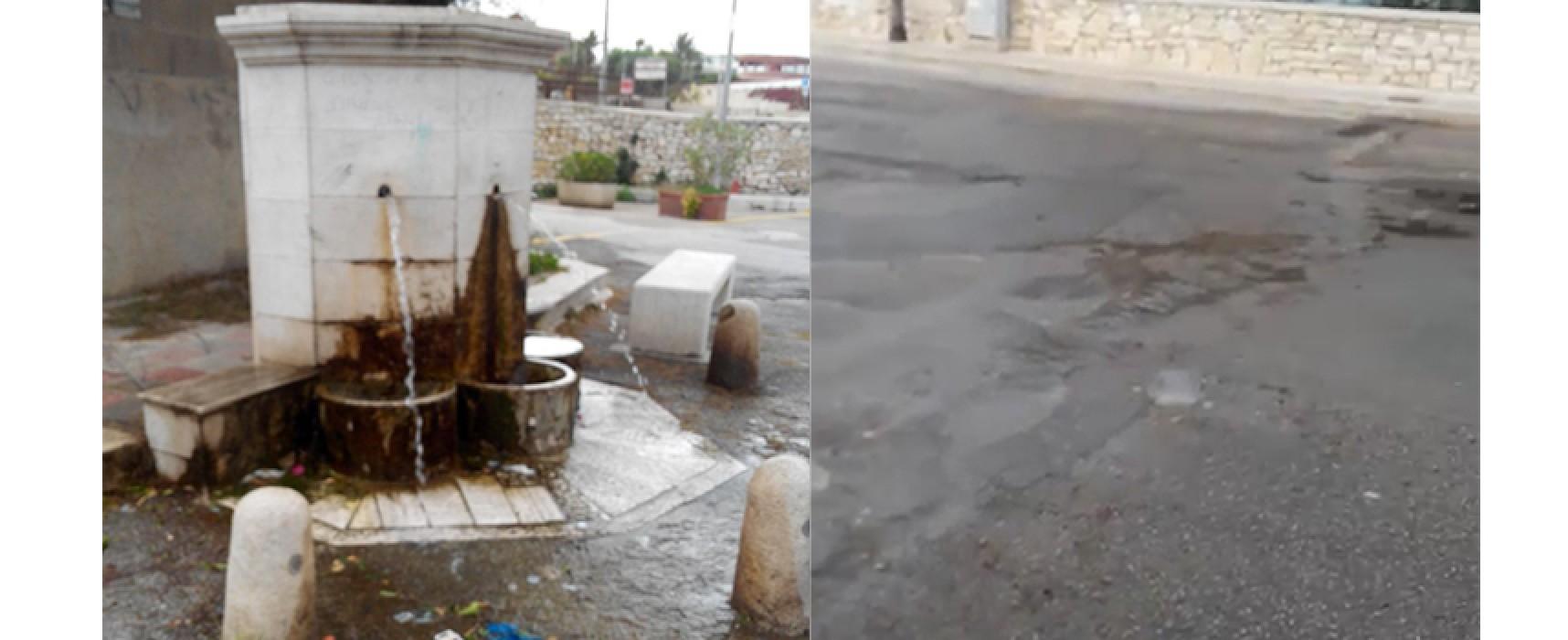 Rubinetti rubati alla fontana di Salsello e conseguente spreco di acqua pubblica