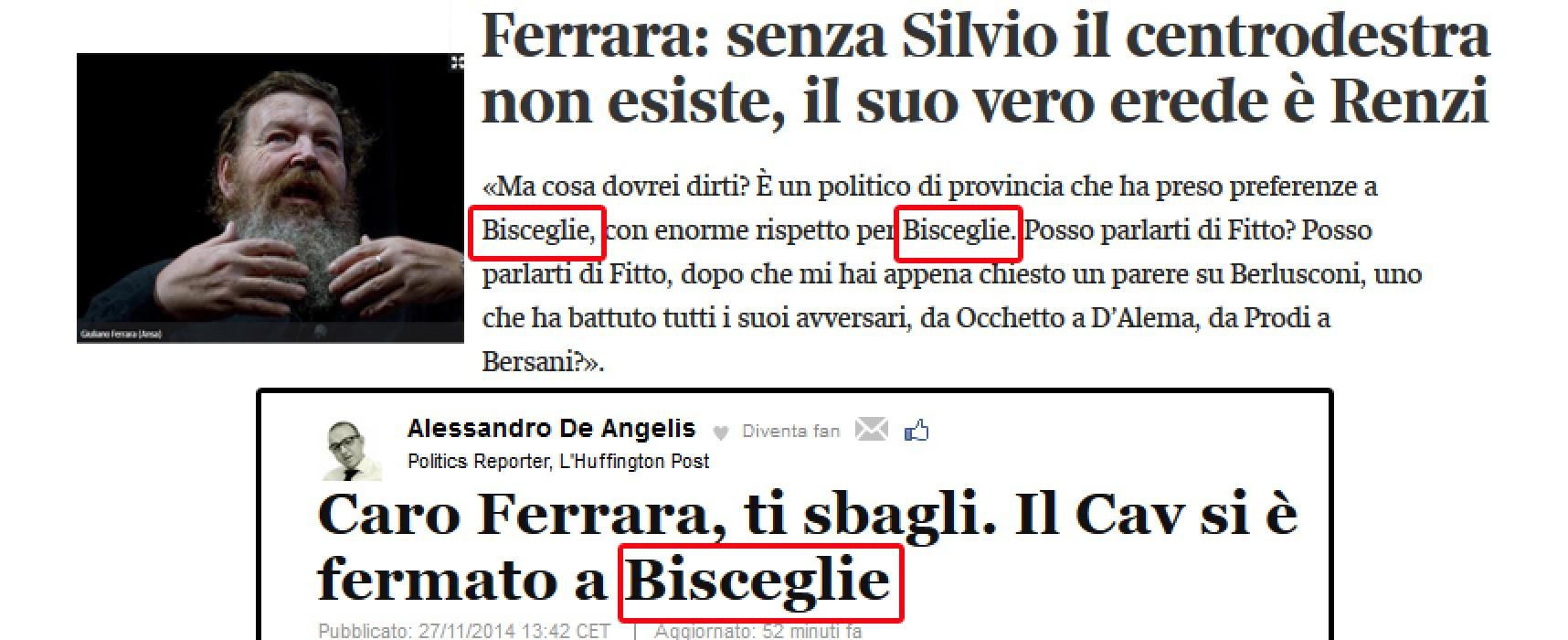 """Giuliano Ferrara su Fitto: """"È uno che ha preso voti a Bisceglie!"""" e si accende il dibattito"""