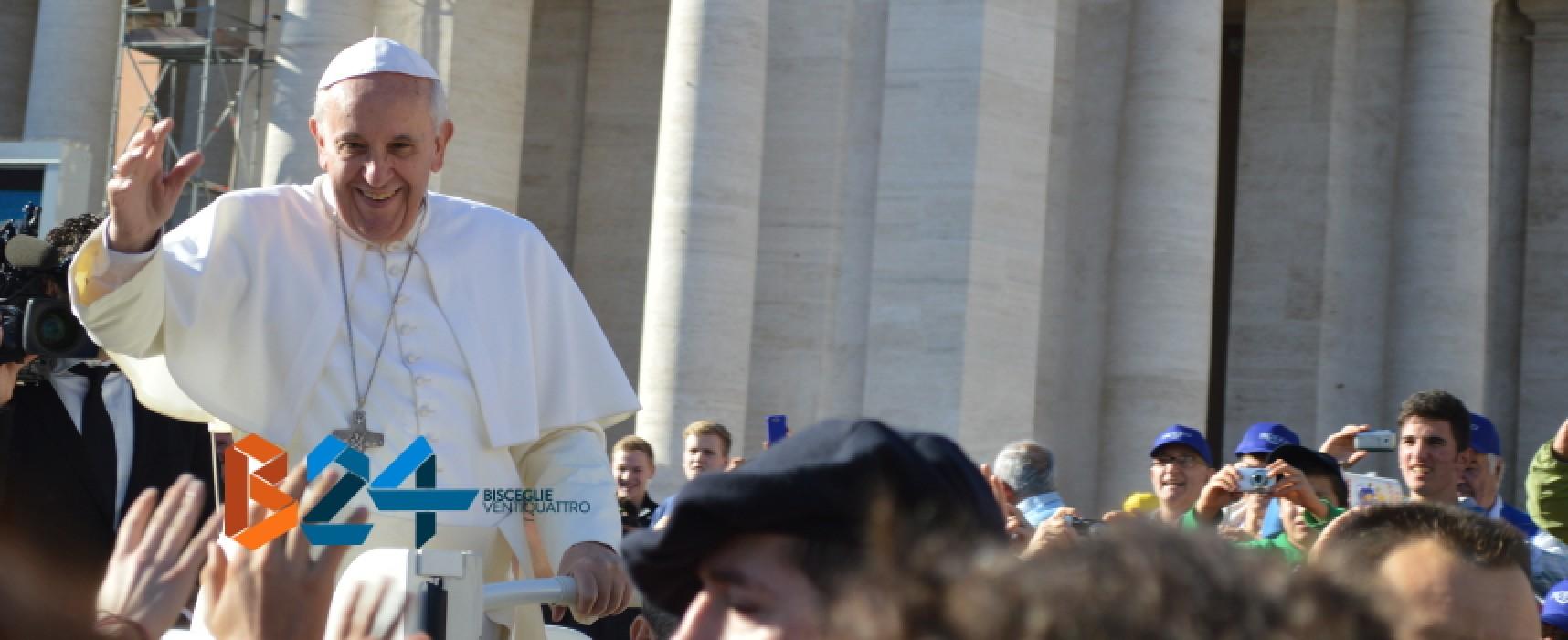Visita di Papa Francesco a Molfetta il 20 aprile, scuole chiuse anche a Bisceglie