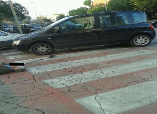 Anziano pedone investito su Via Amando Vescovo, tempestivo intervento della Polizia Municipale