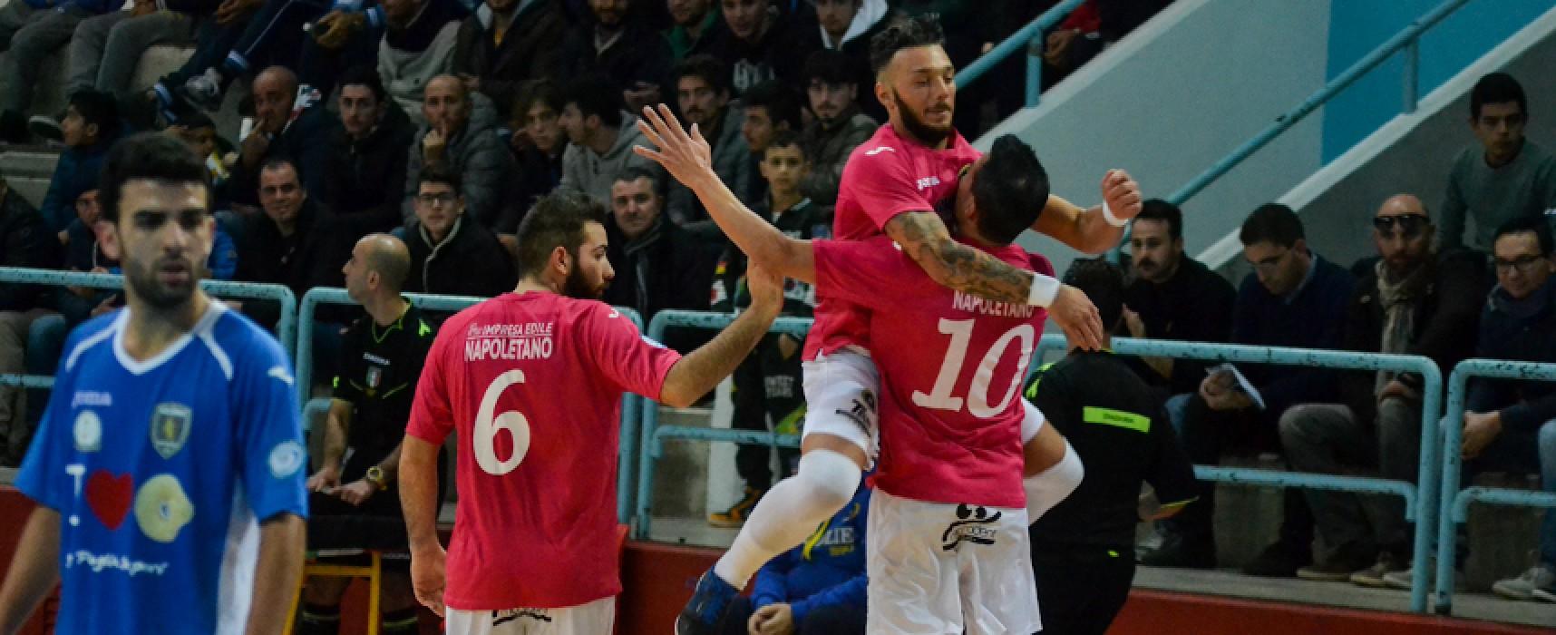 Futsal Bisceglie campione d'inverno: 7-3 al Conversano