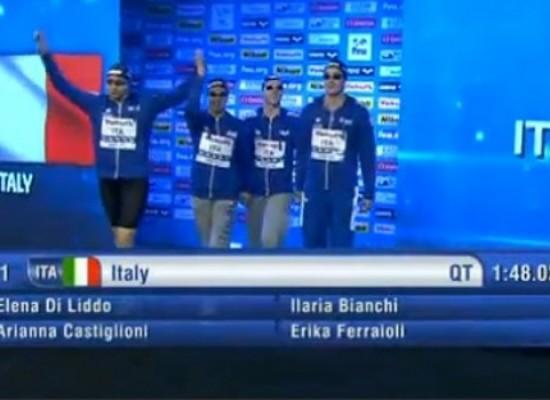 Mondiali di nuoto in vasca corta: Di Liddo quinta con la staffetta 4×50 mista, ma nuovo record italiano