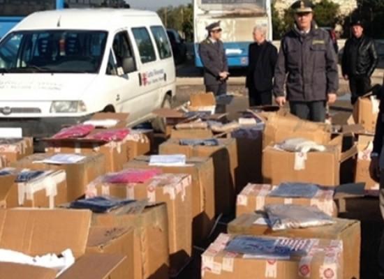 La Guardia di Finanza dona 15mila capi contraffatti: tra i destinatari anche enti di Bisceglie