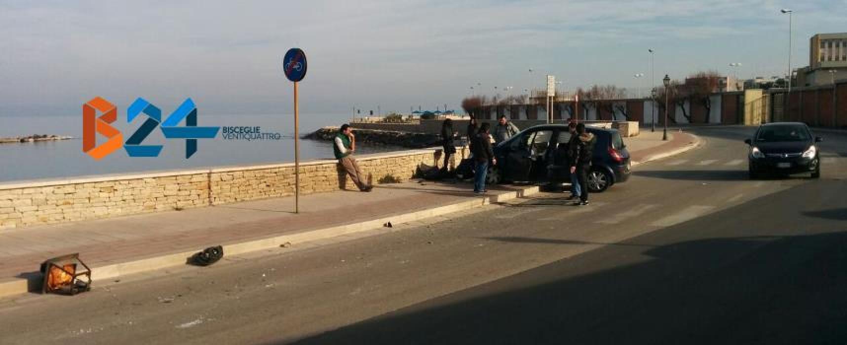 Incidente su via della Libertà, distrutto un palo dell'illuminazione pubblica /FOTO