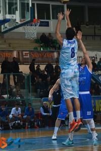 Mathias Drigo in azione contro Agropoli