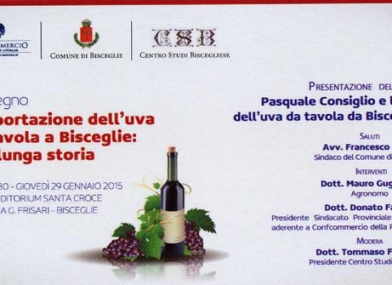 Il tema dell'esportazione dell'uva da tavola a Bisceglie in un convengo il 29 gennaio