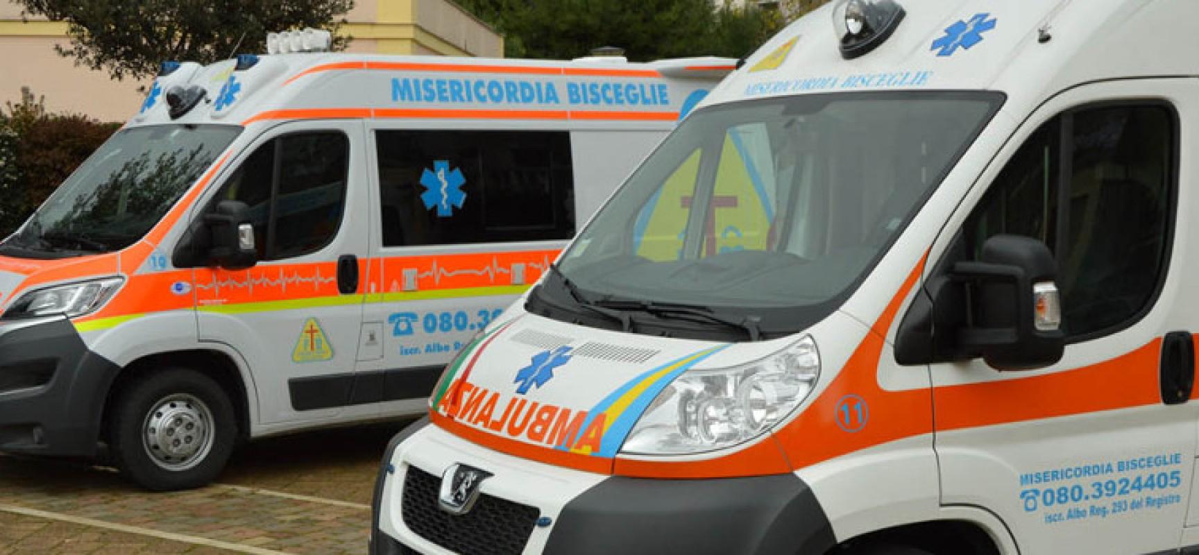 Postazione automedica Trani, contestato l'affidamento a Misericordia Bisceglie