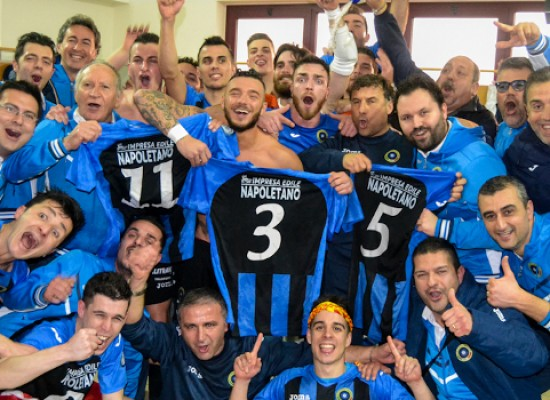 Lo sport biscegliese è in festa, il Futsal Bisceglie è in A2!
