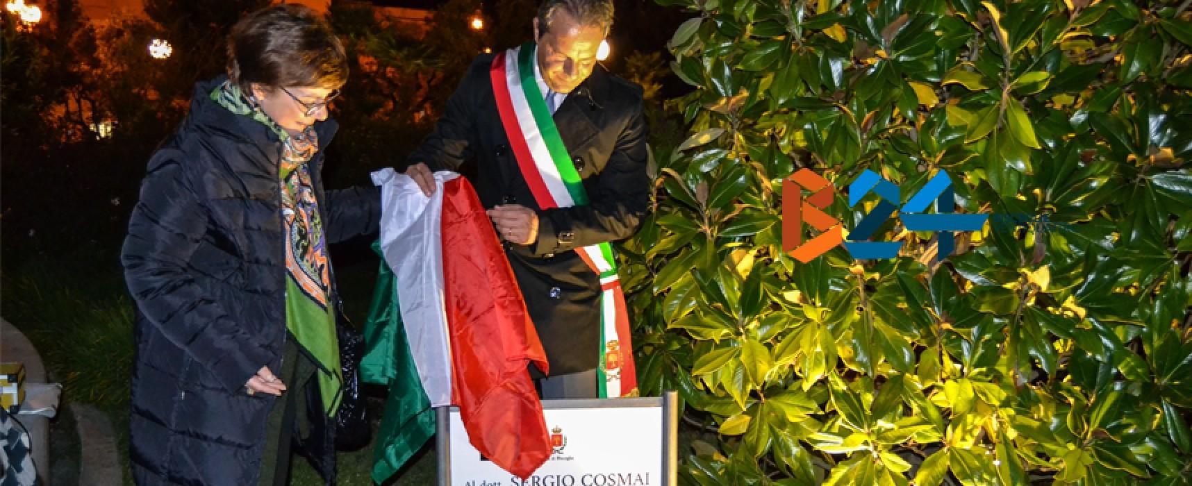 Albero di magnolia piantato in piazza Vittorio Emanuele in ricordo di Sergio Cosmai / FOTO