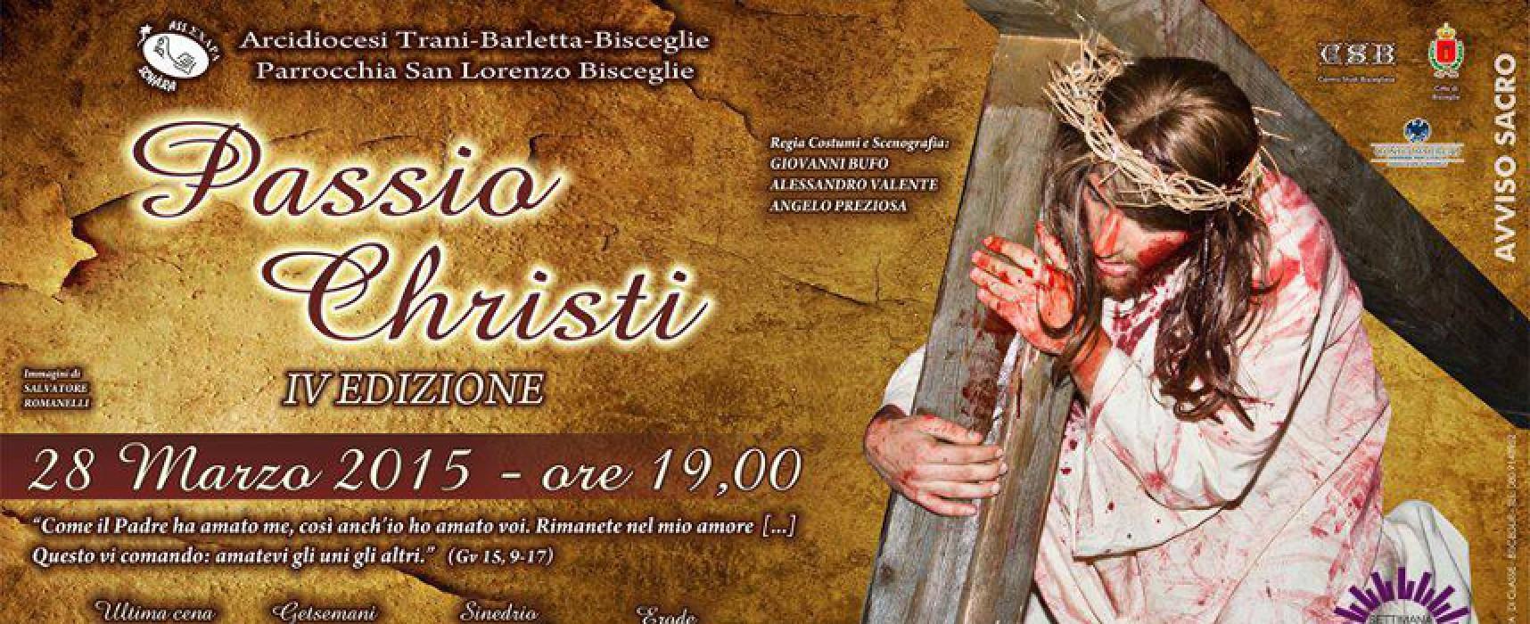 """""""Passio Christi"""", sabato 28 marzo si rinnova l'appuntamento con la Passione vivente"""